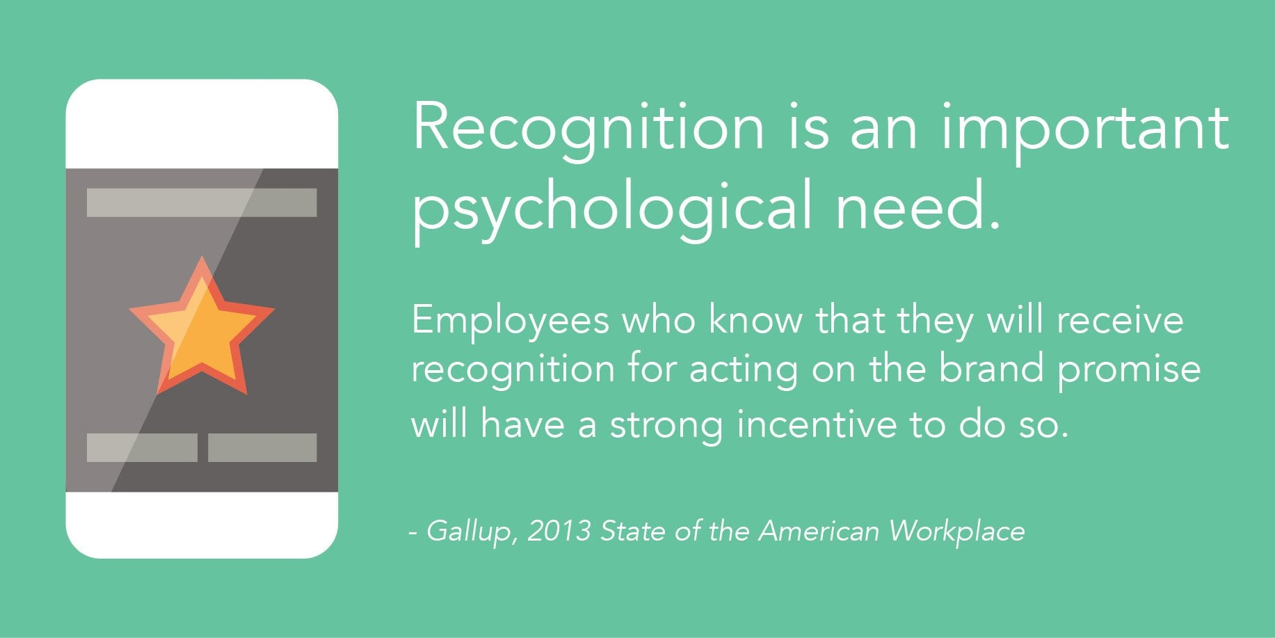 Gallup quote on employee rewards and recognition | Nudge