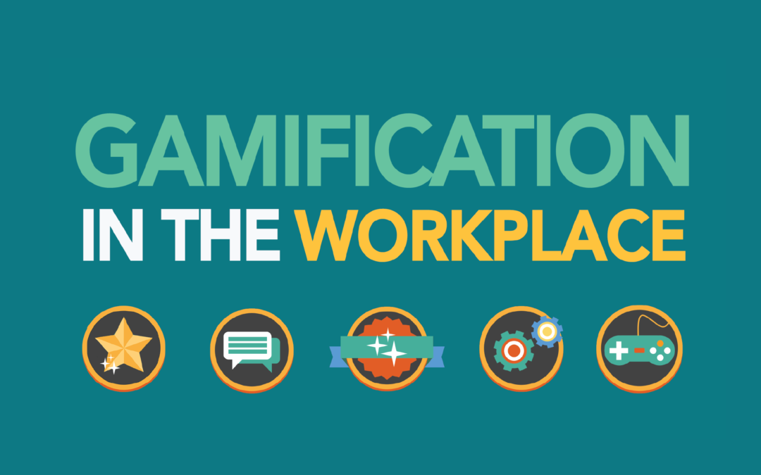 gamification infographic with icons and text