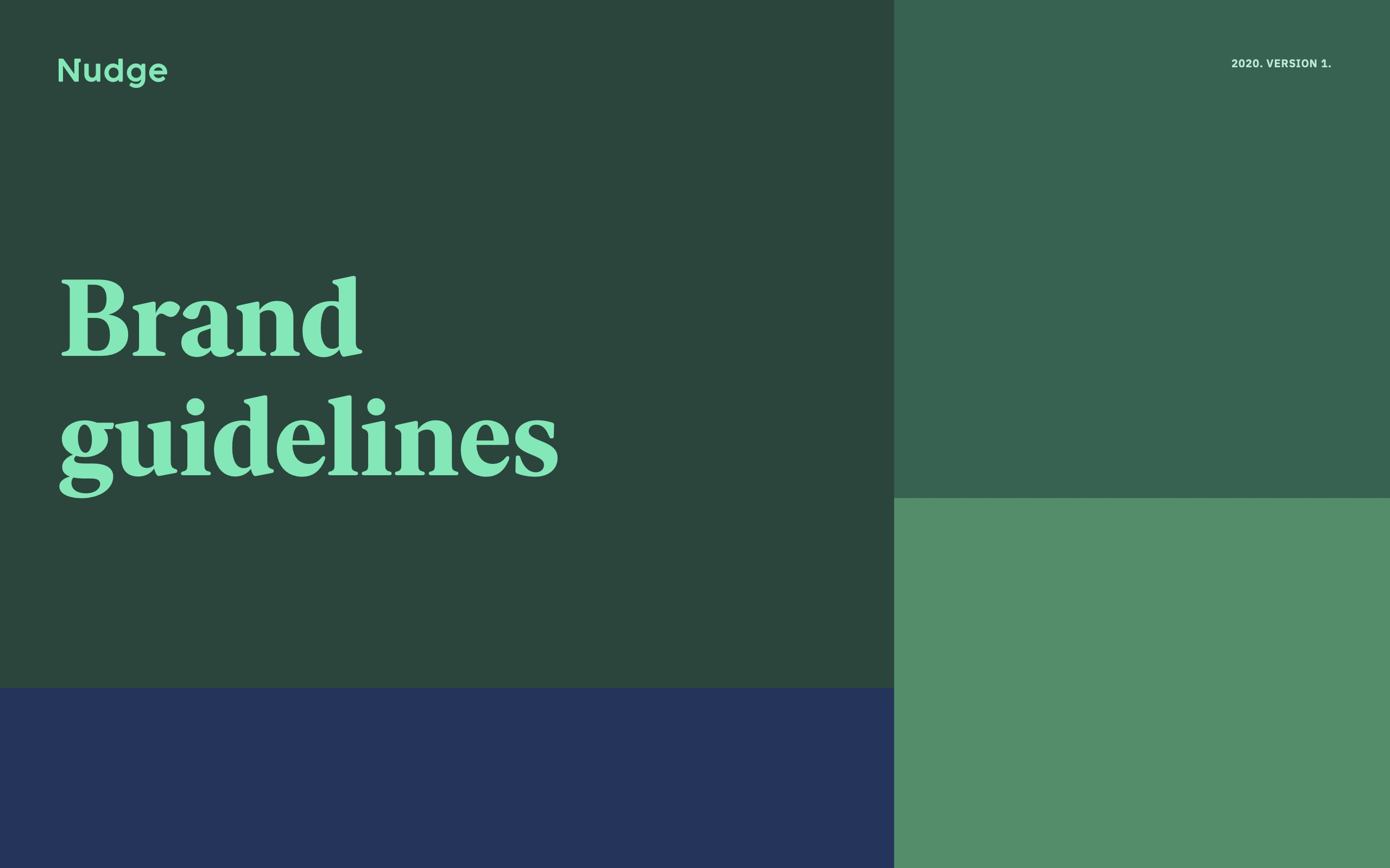 Nudge - Brand Guidelines for Press cover