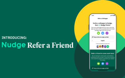 Find top talent quickly and easily with Nudge's employee referral tool