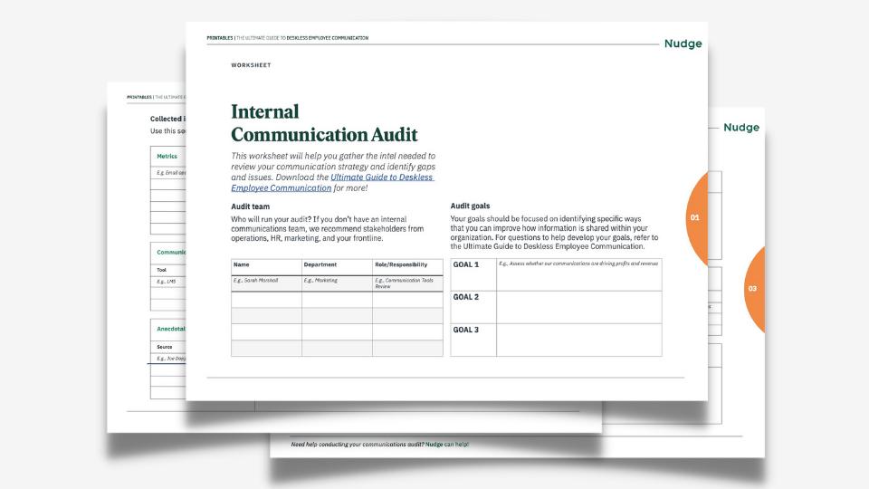 Internal Communications Audit Worksheet header image