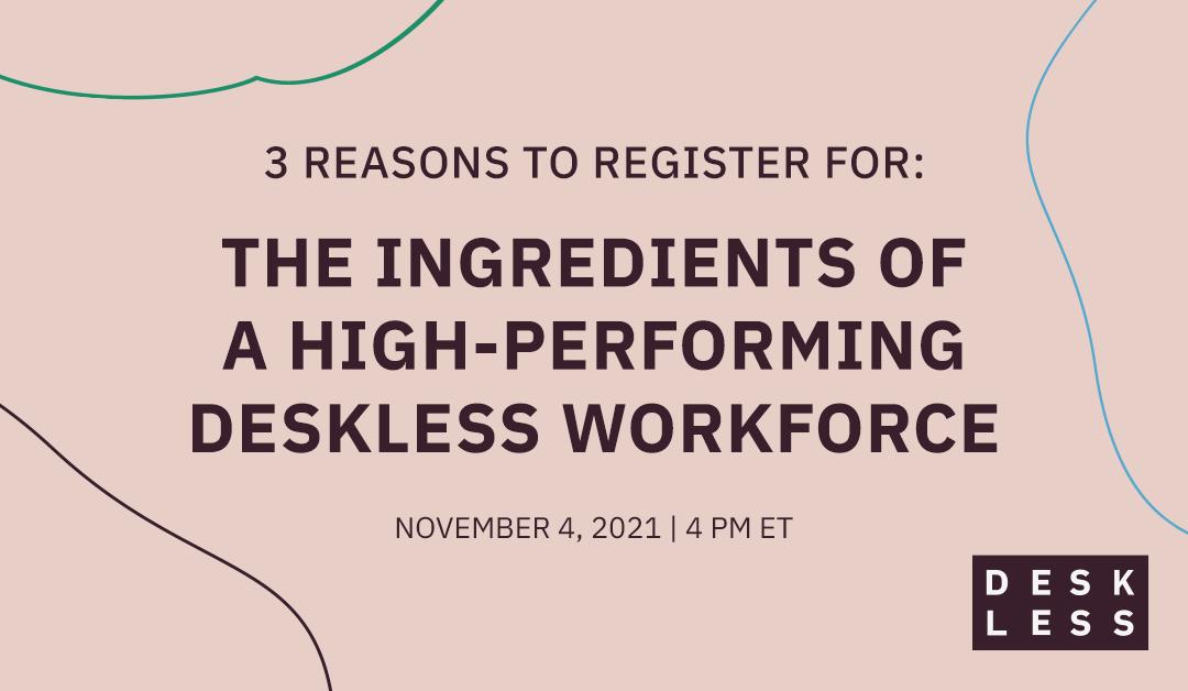 The ingredients of a high-performing deskless workforce   Nudge